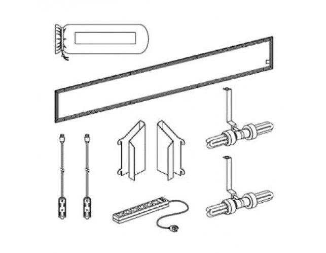 10' Fluorescent Backlit header Kit