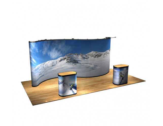 20' Serpentine Full Graphic Pop-Up Display