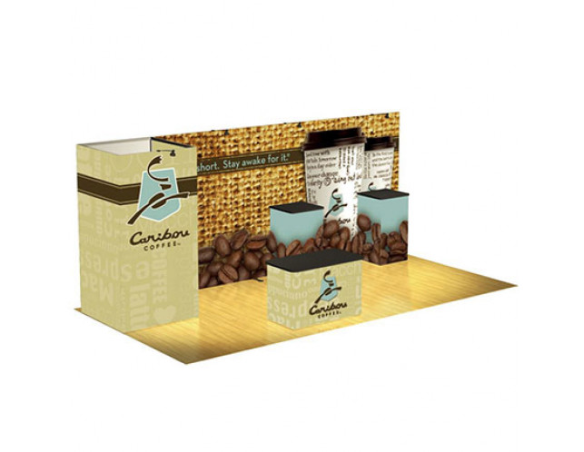 Caribou Coffee Display with Storage As Shown $14,449