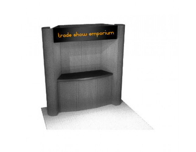 PLP-8 8' Curved End Panels with Counter and Lockable Storage