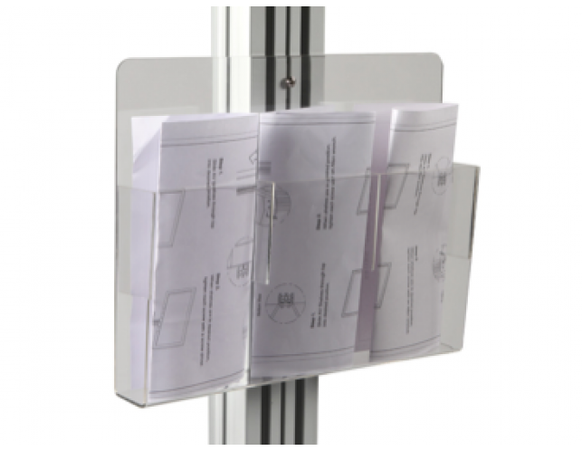 Clear Brochure Holder for Stand Tall LCD Stand