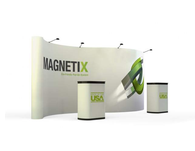 20' economy serpentine full graphic pop-up display