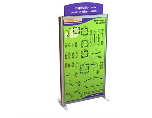 Lightbox SEG Double Sided Banner Stand with Header