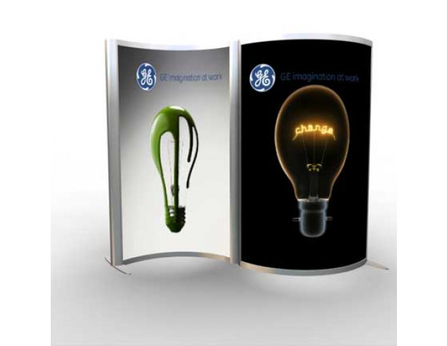 Dual Curved/Serpentine Lightbox