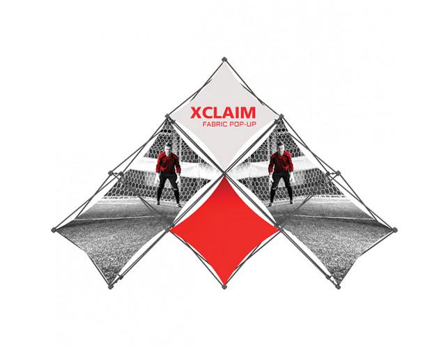 Xclaim Multi-Fabric 6 Quad Pyramid  Popup Display Kit 1