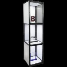 3-Shelf Collapsible Display Shelving