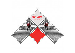 Xclaim Multi-Fabric 6 Quad Pyramid  Popup Display Kit 1