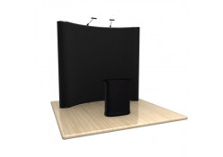 8ft Full Fabric Pop-Up Display