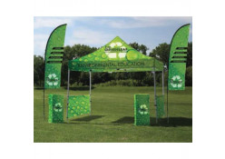 TSE 10' Outdoor Flag & Tent Package