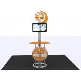 (1) MOD-1331 Modular Workstation/Kiosk with Shelves