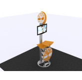 MOD-1331 Modular Workstation/Kiosk with Shelves