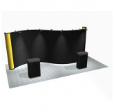 20' Serpentine Full Fabric Pop-Up Display