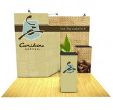 Caribou Coffee 10' Display with Storage view 3