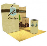 Caribou Coffee 10' Display with Storage