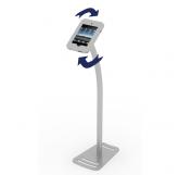 Freestanding Swivel iPad kiosk Silver