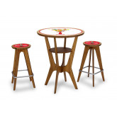 Table and Chairs with Custom Inlays